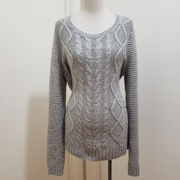 3for$20 xs sweater oversized gray color blend